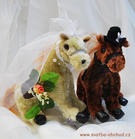 Koníčci na svatební auto (č.3),