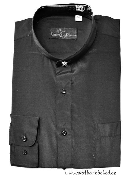 Košile se stojáčkem - černá (č.07), 44