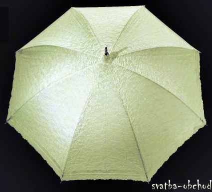 Krajkový deštníček - šampáň,