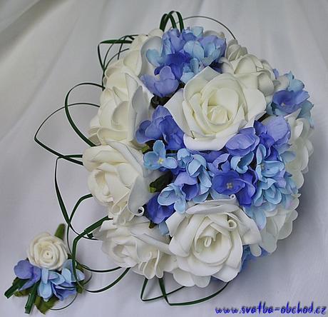Kytice 01 (bílo-modrá),