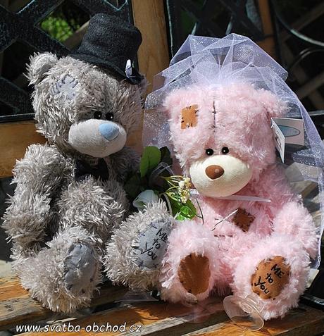 Medvědi - růžová + modrý (č.24),