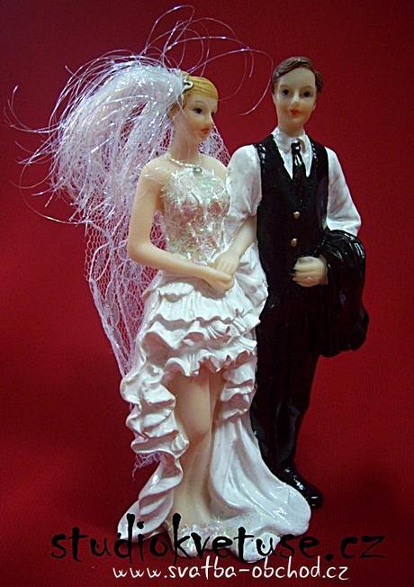 Moderní figurka na dortík,