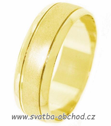 Monumentální snubní prsten A14 - zlato žluté,