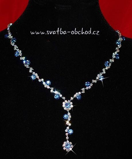 Náhrdelník (č. 020) modrý,