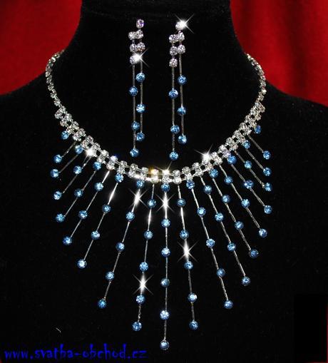 Náhrdelník (č. 036) modrý,