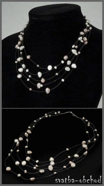 Náhrdelník z pravých perel,