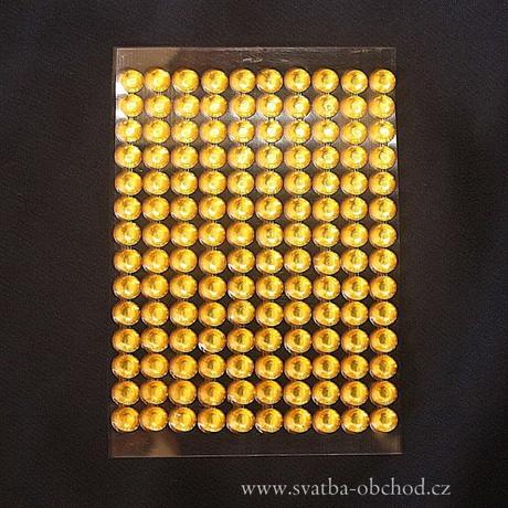Nalepovací kameny 06 zlaté,