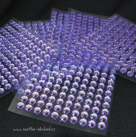 Nalepovací kameny - fialové,