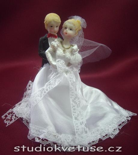 Novomanželé na svatební dort (č.16),