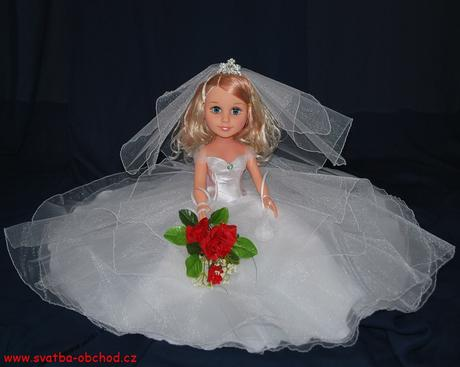 Panenka ve svatebním (č.26) - na objednávku,