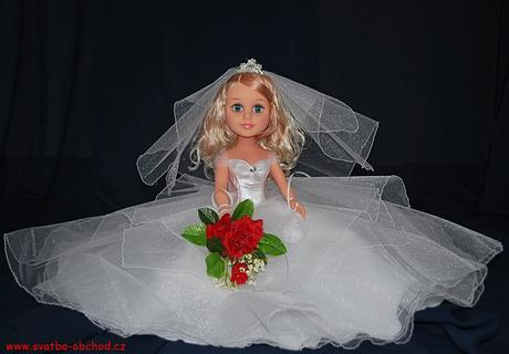 Panenka ve svatebním (č.26) - skladem,