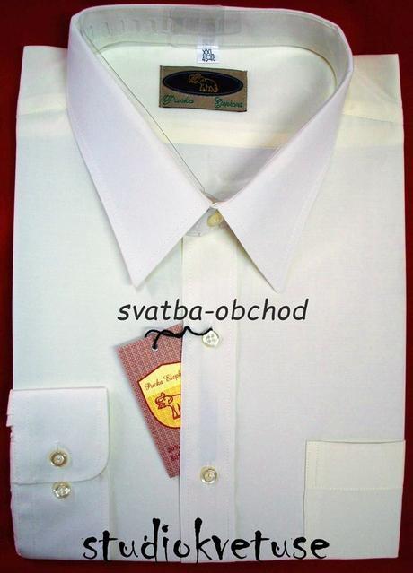 Pánská bílá košile (č.02), 46