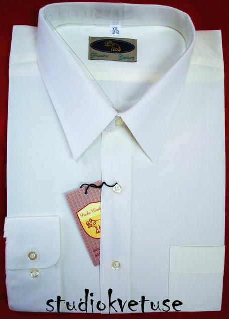 Pánská bílá košile (č. 02), 48