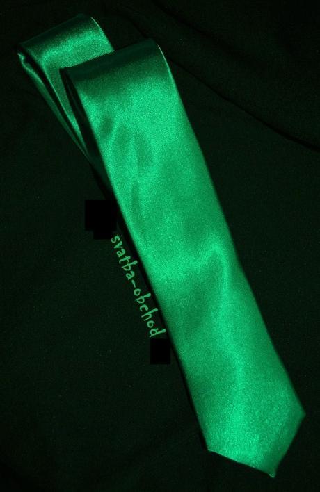 Pánská kravata - zelená (č. 154),