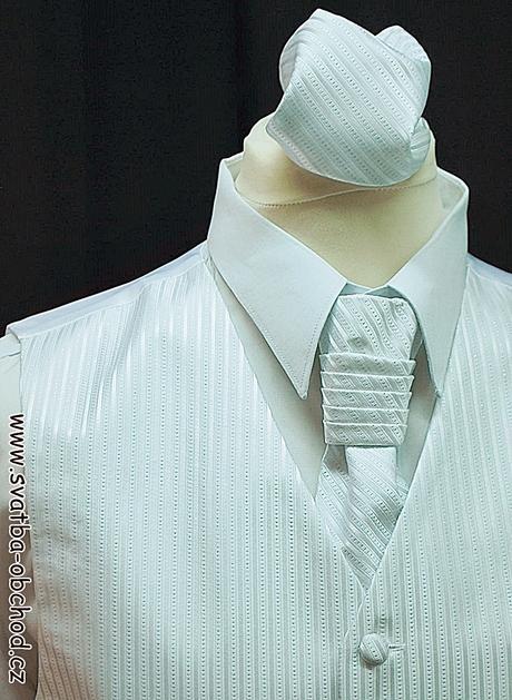 Pánská vesta - bílá (č. 118), 60