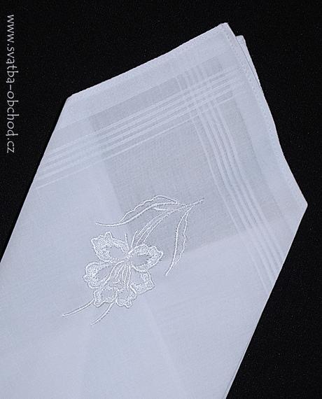 Pánský kapesníček bílý (č.01),