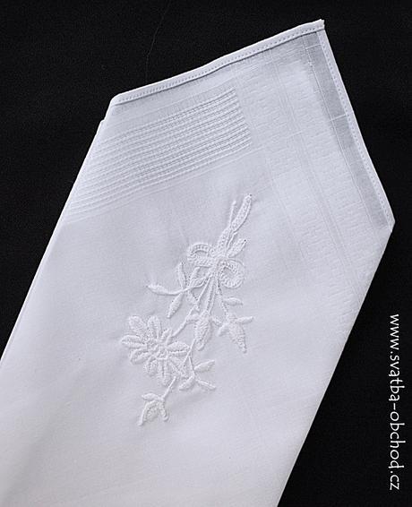 Pánský kapesníček bílý (č.03),
