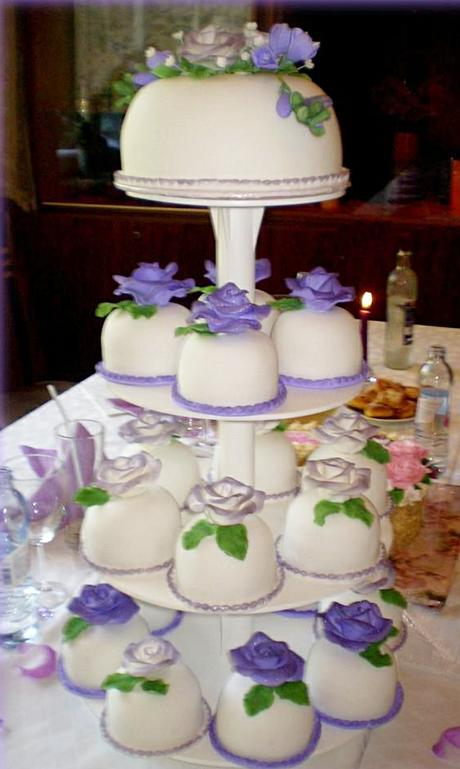 Podnos - stojan na dort - čtyři patra,