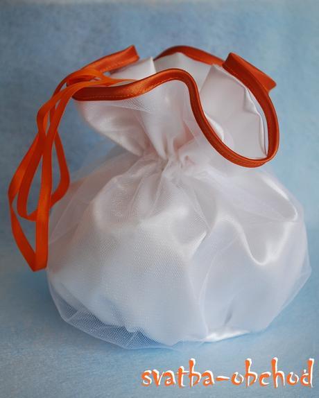 Pompadurka - bílo-oranžová,