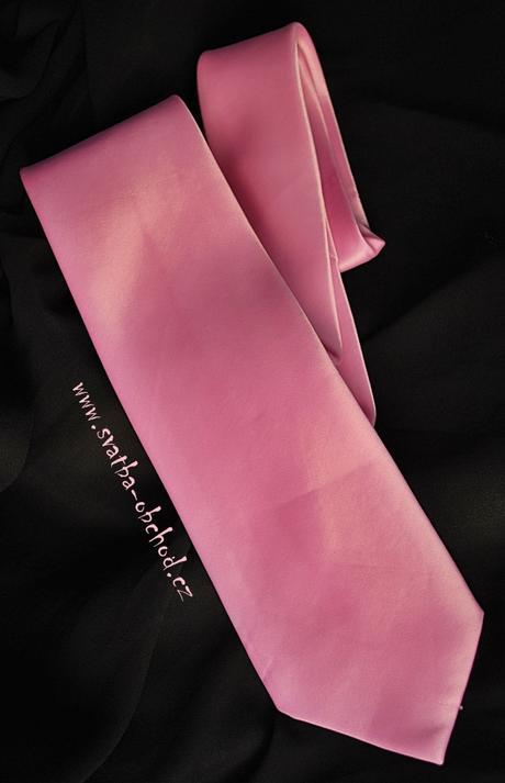 Růžová kravata (č.168),