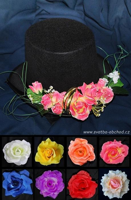 Růžové růže na cylindru (č.03),