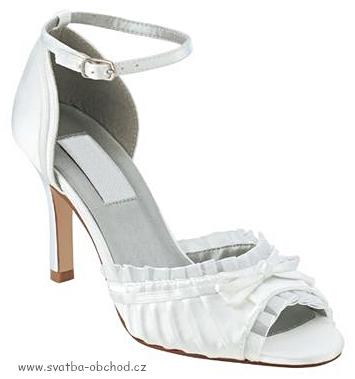 Saténové botičky - bílé (č.12), 35