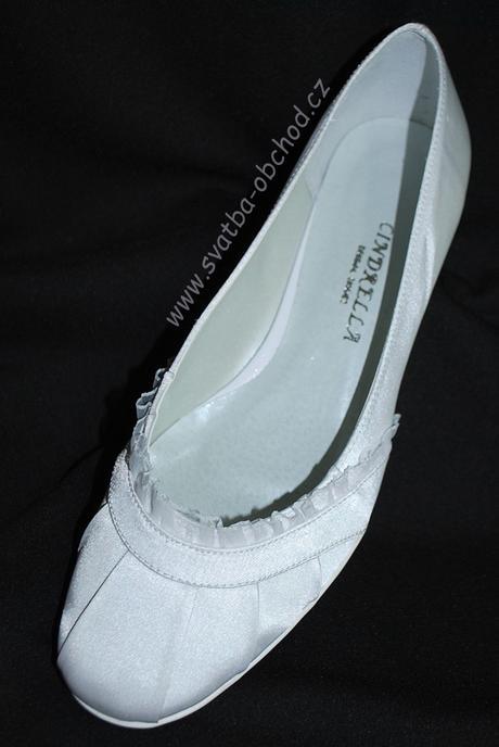 Saténové botičky (č.14) - podpatek 2,5cm, 35