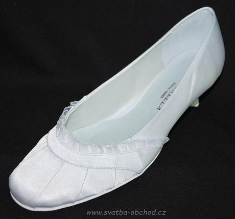 Saténové botičky (č.14) - podpatek 2,5cm, 36