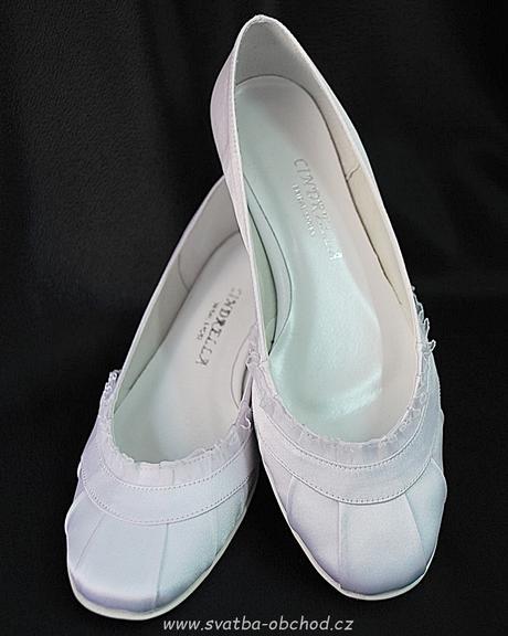 Saténové botičky (č.14) - podpatek 2,5cm, 37