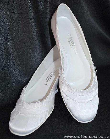 Saténové botičky (č.14) - podpatek 2,5cm, 38