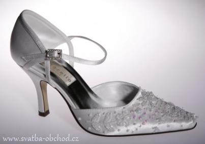 Saténové botičky s výšivkou (č.21), 38