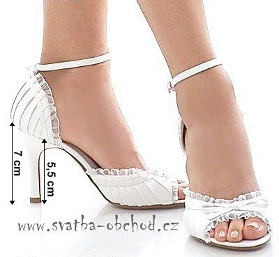 Saténové botičky- zářivě bílé (č.12), 38