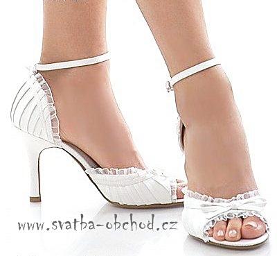 Saténové botičky- zářivě bílé (č.12), 41