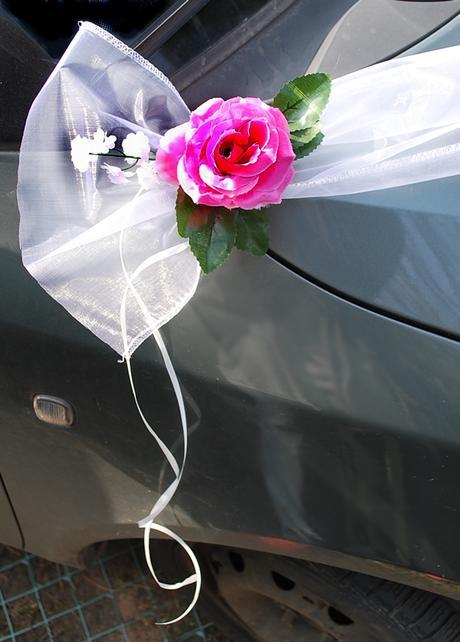 Šerpa z organzy + růžové růže,
