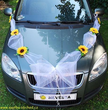 Set na dvě auta - slunečnice (č.06),