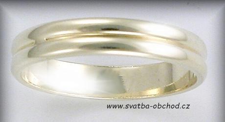 Snubní prsten A1 - zlato bílé,