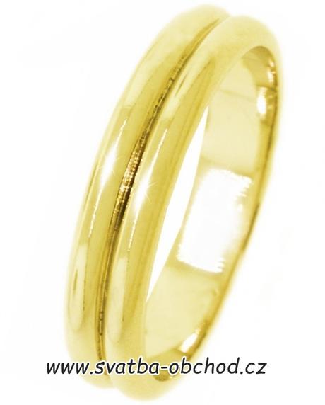 Snubní prsten A1 - zlato žluté,