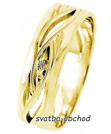 Snubní prsten A10 - žluté zlato,