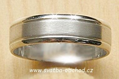 Snubní prsten A14 - stříbro,