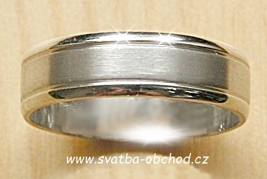 Snubní prsten A14 - zlato bílé,