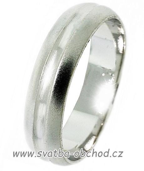 Snubní prsten A16 - zlato bílé,