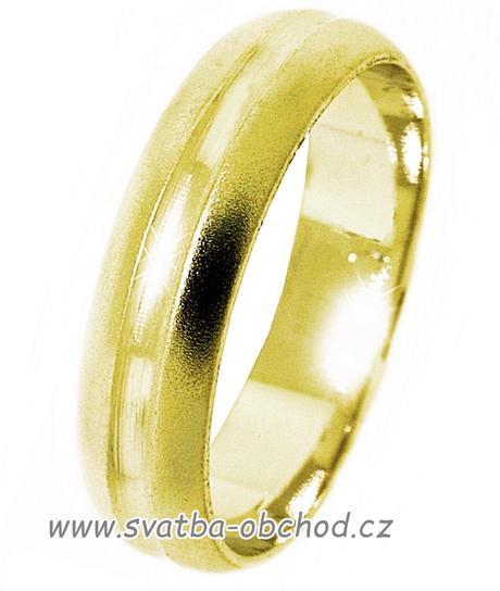 Snubní prsten A16 - zlato žluté,