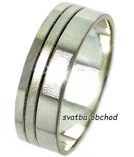 Snubní prsten A19 - stříbro,