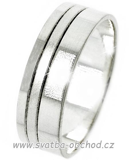 Snubní prsten A19 - zlato bílé,