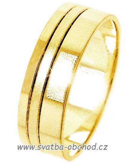 Snubní prsten A19 - zlato žluté,