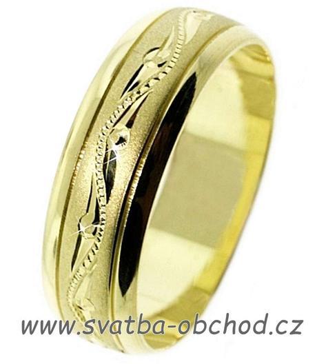 Snubní prsten A21 - stříbro,
