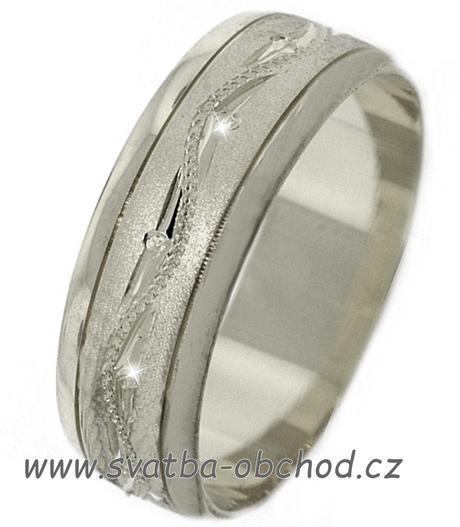 Snubní prsten A21 - zlato bílé,