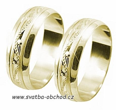 Snubní prsten A21 - zlato žluté,