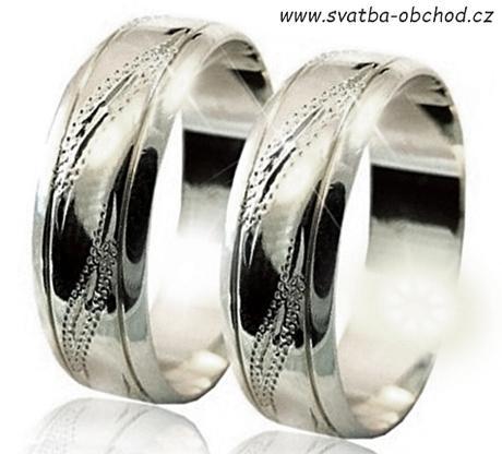 Snubní prsten A22 - stříbro,