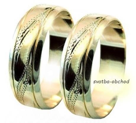 Snubní prsten A22 - zlato žluté,